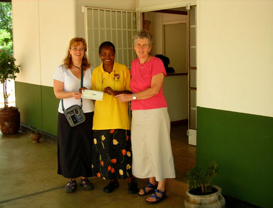Anna Callegari and Beth Gessinger at Ndi Moyo